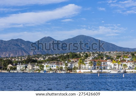 lake mission viejo orange county california  - stock photo