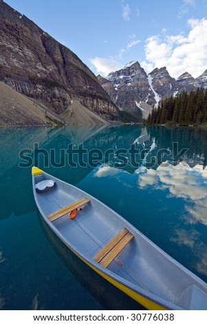 Lake Moraine - stock photo