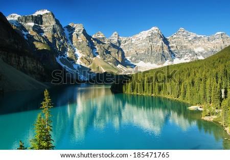 Lake Moraine, Banff national park, Canada - stock photo