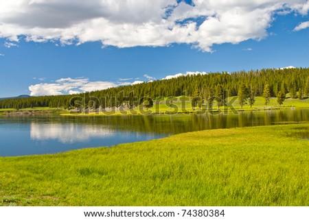 lake mountain - stock photo