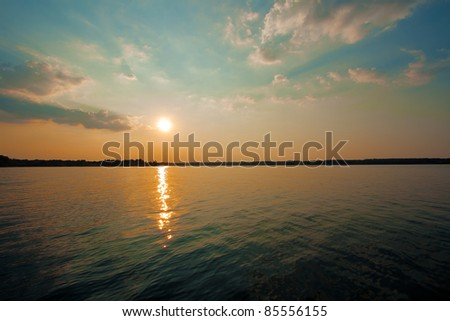 Lake Murray, South Carolina - stock photo
