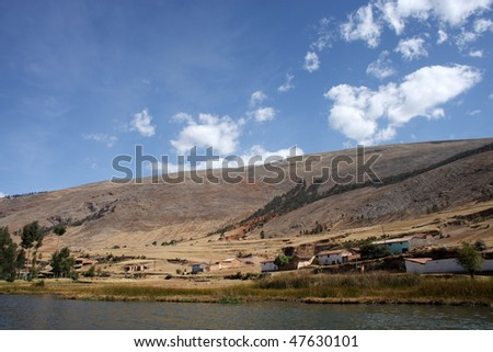Lake Nahuinpuquio in Huancayo, Andes, Peru - stock photo