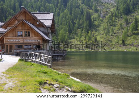 Lake Nambino, Dolomites, Italy - stock photo