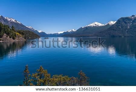 Lake near Bariloche in Argentina - stock photo