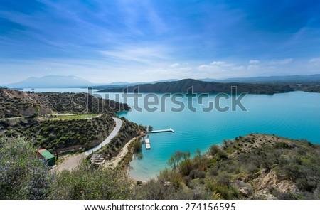 Lake Negratin Sierra de Baza, Granada Province Andalusia Spain - stock photo
