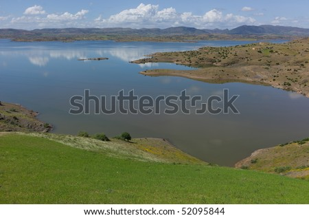 Lake of Bin el Ouidane (High Atlas - Morocco) - stock photo