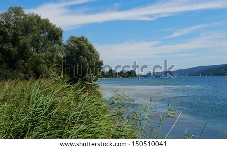 lake of Constance - Bodensee Ã?Â?hningen - beach  lake Panorama Germany