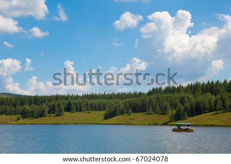 Lake of grassland in Inner Mongolia of China