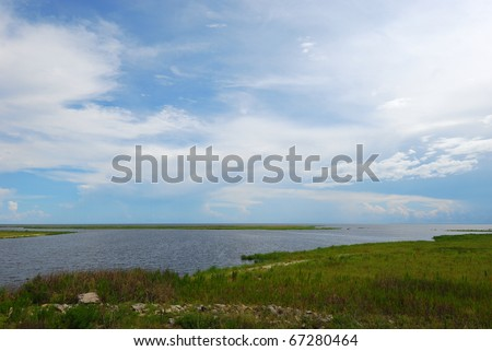 Lake Okeechobee/Lake Okeechobee headwaters of the Everglades - stock photo