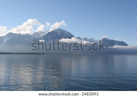 Lake on a background of mountains