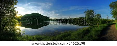 Lake panoramic - stock photo