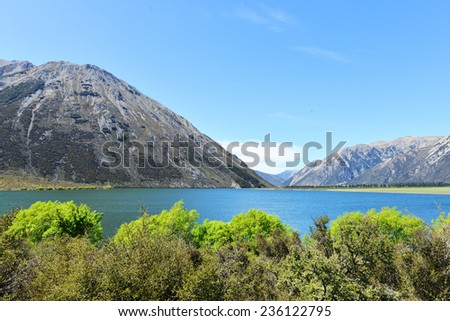 Lake Peason in Newzealand - stock photo