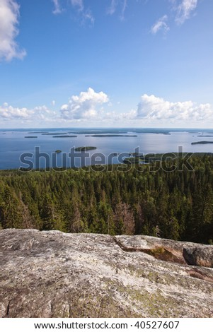 Lake Pielinen in Koli national park, Finland - stock photo