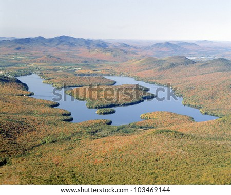 Lake Placid in Autumn, Adirondack, New York