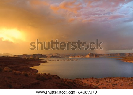 Lake Powell - stock photo