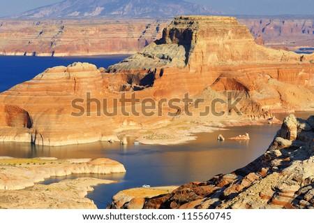 lake Powell and Glen Canyon, Arizona and Utah, USA - stock photo