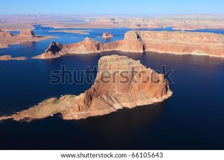 Lake Powell and Glen Canyon in Arizona, USA - stock photo