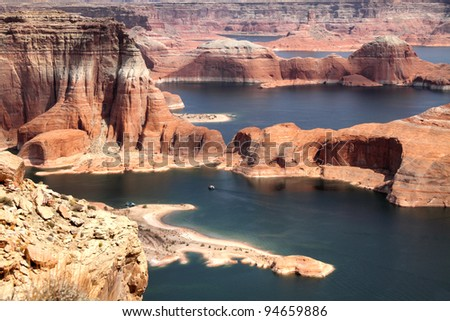 Lake Powell and Glen Canyon in Arizona, USA - stock photo