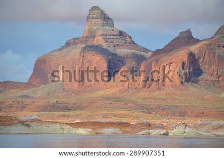 Lake Powell in Page, Arizona USA - stock photo