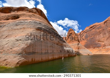 Lake Powell in Page Arizona, USA - stock photo