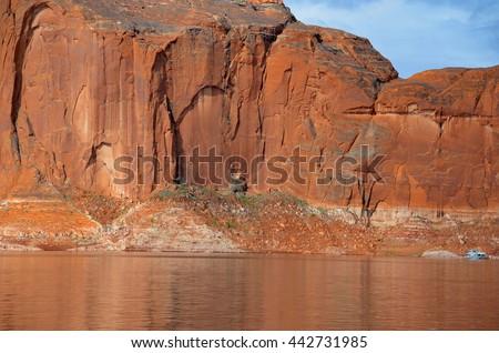 Lake Powell in PAge, Arizona USA - stock photo