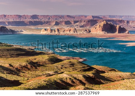 Lake Powell Landscape in rural Utah.