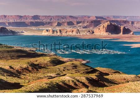 Lake Powell Landscape in rural Utah.  - stock photo