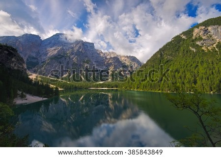 Lake Prags in italian Alps