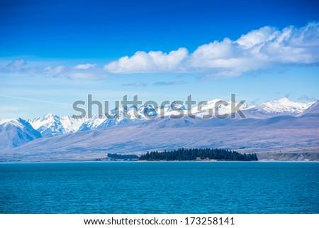Lake Pukaki, South Island, New Zealand  - stock photo