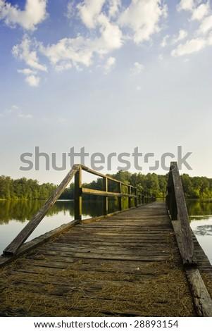 Lake Ross Barnett fishing pier in Mississippi - stock photo