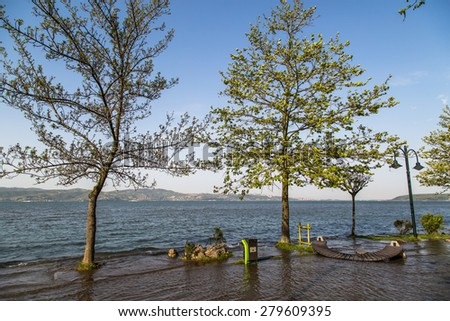 Lake Sapanca in Sakarya, Turkey. - stock photo