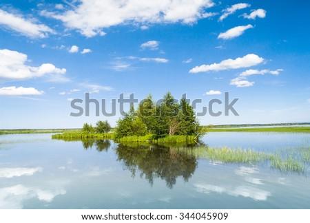 Lake Serenity Pristine Nature  - stock photo