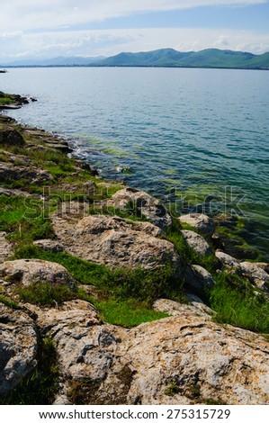 Lake Sevan, Armenia - stock photo