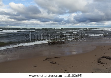 Lake Superior Union Bay - stock photo
