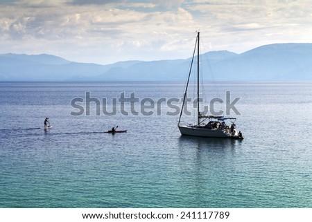 Lake Tahoe - Boater & Paddlers - stock photo