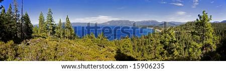 Lake Tahoe California Panorama View - stock photo