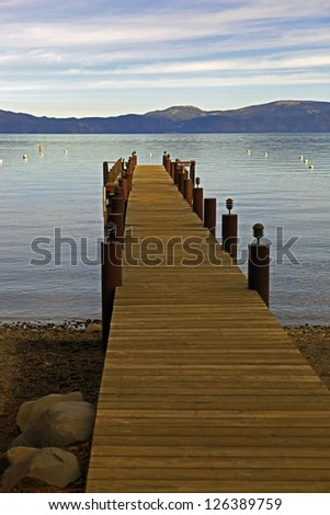 Lake Tahoe Dock - stock photo