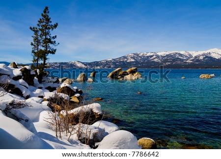 Lake Tahoe in Winter - stock photo