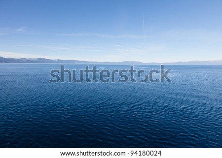 Lake Tahoe is a large freshwater lake in the Sierra Nevada mountains of the United States.