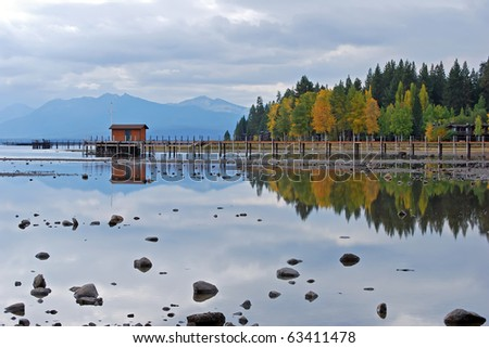 Lake Tahoe Reflection - stock photo