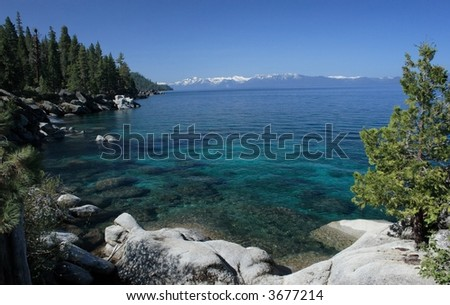Lake Tahoe Shoreline - stock photo