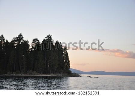 Lake Tahoe Sunset - stock photo
