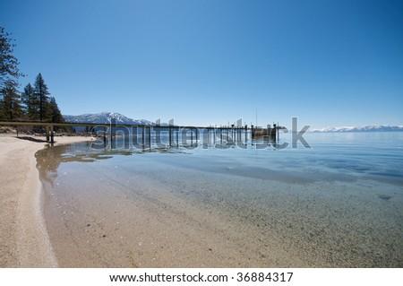 Lake Tahoe vacation resort - stock photo