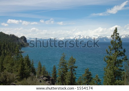 Lake Tahoe View from the Southeast Shore - stock photo