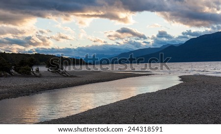 Lake Tea Anau and Eglington River, New Zealand