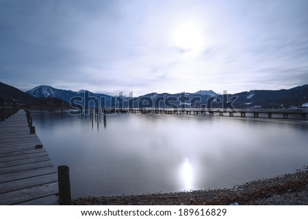 Lake Tegernsee, Bavaria, Germany, long time exposure