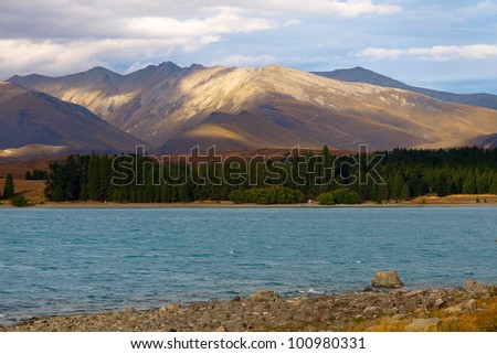 Lake Tekapo and Southern Alps, New Zealand