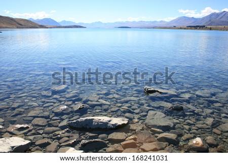 lake Tekapo Canterbury, NewZealand - stock photo