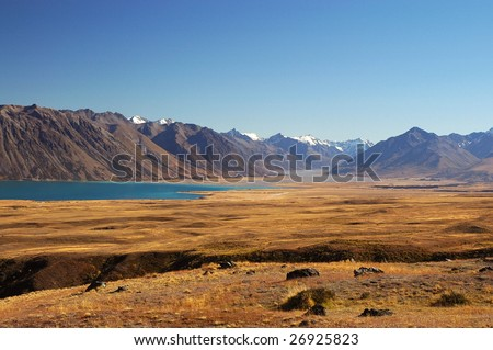 Lake Tekapo in the Mackenzie Country, South Island, New Zealand