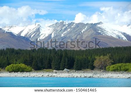 Lake Tekapo, New Zealand - stock photo